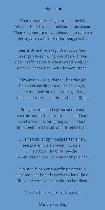 Nieuwe Stadsdichter Vervolg Van 29 Oktober Lelystadhaven